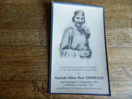 JEMAPPES :SOUVENIR DE DECE DE RAYMONDE HELENE MARIE GANDIBLEUX 1920-1941 - Devotion Images
