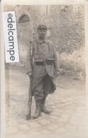 CP PHOTO De MORMANT :  Militaire Gauthé François (voir Scan Du Dos). - Mormant