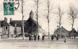 CPA - 18 - ASNIERES - Le Temple Et Route De Bourges - France