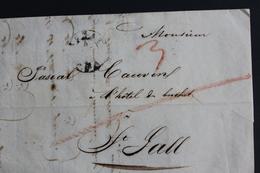 1843 EBNATH(ALLEMAGNE ,BAVIERE) Lettre Avec Correspondance Datée Du 04/07/1843 Pour ST GALL (SUISSE) Cad Arrivée Du05/07 - [1] Préphilatélie