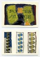 Lot De 2 CP Pub Neuves - Claude Viallat, Acryliques Sur Toiles 2007 - Musée De La Poste - Exposition Les Toiles Postales - Schöne Künste