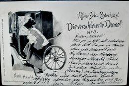 AFFAIRE DREYFUS ANTIJUDAICA ANTISEMITISME DIE VERSCHLEIERTE DAME NACH HAUSE  CARTE VOYAGEE  1899 - Ereignisse