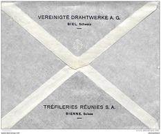 """41-1 - Entier Postal Privé """"Tréfleries Réunies SA Bienne"""" 1926 - Entiers Postaux"""