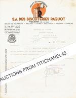 YVOZ-RAMET 1945 - S.A. DES BISCUITERIES PAQUOT - Biscuits Des Nourrissons, Biscottes, Gaufres, Spéculation, Massepain... - Non Classés