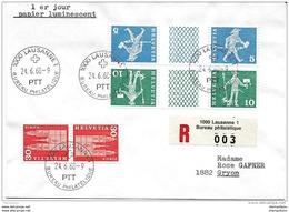 115 - 72 - Enveloppe  Recommandée Avec Timbres Pont Et Se-tenant Papier Luniescent - 1er Jour D'utilisation - Se-Tenant