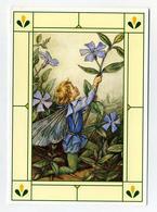 Flower Fairy Immergrün - BK éditions. Illustration Enfant Ailé Et Fleurs. Encadrement Style Vitrail... - Autres