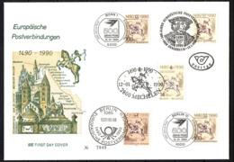 GERMANIA - 1990 - MECHELEN-INNSBRUCK: COLLEGAMENTO POSTALE INTERNAZIONALE: GERMANIA, BELGIO, AUSTRIA - FDC - FDC: Covers