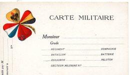 """CP- 4 Drapeaux -""""  Carte Militaire- """"- - Storia Postale"""