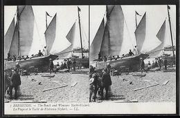 CPA ANGLETERRE - Brighton, The Beach And Pleasure Yacht-Skylark - Carte Stéréoscopique - Brighton