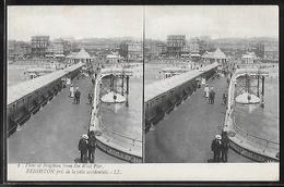 CPA ANGLETERRE - Brighton, Pris De La Jetée Occidentale - Carte Stéréoscopique - Brighton