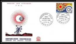 4623/ Espace Space Raumfahrt Lettre Cover Briefe Cosmos 25/2/1965 FDC Année Du Soleil Calme Gabon - Lettres & Documents