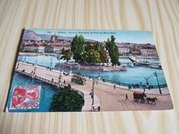 Genève (Suisse).Ile J.J. Rousseau Et Pont Du Mont Blanc. - GE Genève