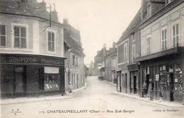 CPA - 18 - CHATEAUMEILLANT - Rue Zoë-Berger - Pharmacien G. Soupizon - Châteaumeillant