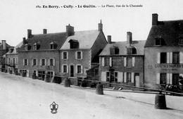 CPA - 18 - CUFFY - LE GUETIN - La Place, Vue De La Chaussée - Café-Restaurant - France