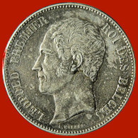 BELGIQUE - Léopold I - 5 Francs Tête Nue - 1851. - 1831-1865: Leopold I