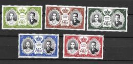 1956 - Monaco - Mariage Princier - YT 473/477 - MNH** - Neufs