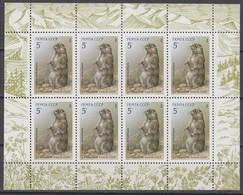 Russia, USSR 15.05.1987 Mi # 5711 Kleinbogen, Protected Animals, Menzbier's Marmot MNH OG - Nuevos