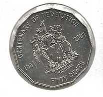 AUSTRALIA 50 CENTS CENTENARY OF FEDERATION 2011 - Victoria