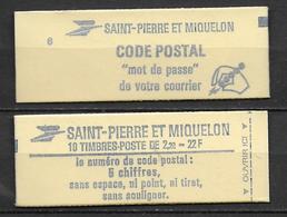 SPM - CARNET - YVERT N°464 **  MNH  - LIBERTE DE GANDON - VENDUS LARGEMENT SOUS FACIALE - Carnets