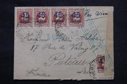 ESPAGNE - Enveloppe De Barcelone Pour La France En 1938 Avec Censure, Affranchissement Plaisant  - L 59251 - Republikanische Zensur