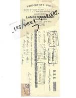 52 - Haute-marne - VICQ - Traite LAMBERT-JORAND - Fromages Fins - 1925 - REF 146A - France