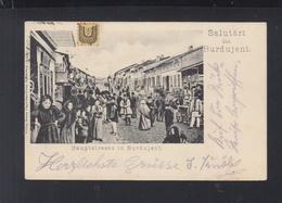 Romania PPC Burdujeni 1905 Austrian Itzkany Pmk - Romania
