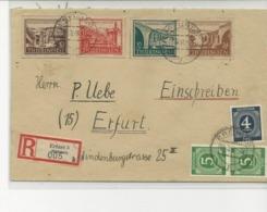 Thuringen Mi 112/115+AAS 914-915(2) ERFURT 3s/l.recommandée.TB - Zone Soviétique