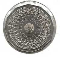 AUSTRALIE 50 CENTS SILVER JUBILEE - Moneta Decimale (1966-...)