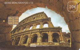 ISN-223 TARJETA DE ESPAÑA DE ISERN DE 20 EUROS DE LA SERIE MONUMENTOS Nº12 (COLISEO ROMANO) ITALIA - Phonecards