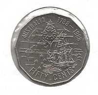 AUSTRALIE 50 CENTS 1788 -1988 - Moneta Decimale (1966-...)