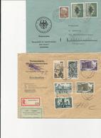 Sarre 1955. 4 Belles Lettres Dont 2 Recommandées-1c Remboursement. TB - Allemagne