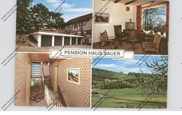 5952 ATTENDORN - JÄCKELCHEN, Pension Sauer, Klapp-Werbe-Karte - Attendorn
