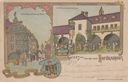 Carte  Postale   ALLEMAGNE  GRUSS  AUS  DEM  MÜNCHNER  HOFBRAUHAUS  1898 - Greetings From...