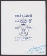 """Essai - épreuve Du Coin Définitif Type N°1248 """"350e Anniversaire Escrime"""" Sur Papier Blanc Lisse, Impression Bleu Noir - Proofs & Reprints"""