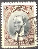 TURQUIE TURKEY N° 771 COTE 27,50 € 1930 OBLITERE - Usati