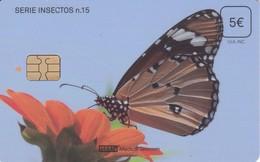 ISN-309 TARJETA DE ESPAÑA DE ISERN DE LA SERIE INSECTOS Nº15 (MARIPOSA-BUTTERLY) - Papillons