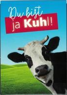 Allemagne Carte Postale CP Postcard WN Journal Imprimé Et Numérique Vache Du Bist Ja Kuhl Tu Est Cool ! - Tedesco