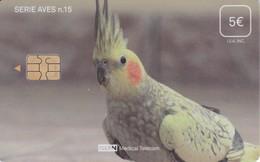 ISN-310 TARJETA DE ESPAÑA DE ISERN DE LA SERIE AVES Nº15 (COTORRA-CAROLINA-LORO-PARROT)) - Parrots