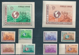 B8589 Albania Sport Football World Cup Chile Perf+Imperf Set+S/S MNH - Fußball-Weltmeisterschaft