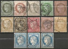 France - Cérès - N°50 à 60C Oblitérés - Collection Complète - 1871-1875 Ceres