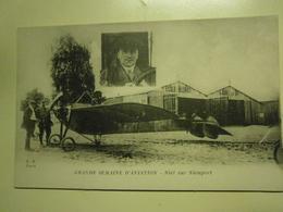 CPA,grande Semaine D'aviation,Niet Sur Nieuport,non écrite,thème Aviation,très Bel état - Non Classés