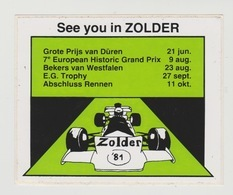 Sticker: Formula 1 - Formule 1 Circuit Zolder (B) 1981 - Automovilismo - F1