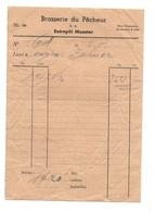 Facture Brasserie Du Pêcheur S.A Entrepôt Munster - 1900 – 1949