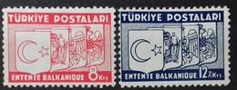 TURQUIE TURKEY N° 882 à 883 COTE 25 € 1937 NEUF * MH ENTENTE BALKANIQUE - Ungebraucht