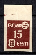 Estonie Occupation Allemande YT N° 1 Non Dentelé Neuf ** MNH. TB. A Saisir! - Occupation 1938-45