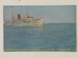 Brod 208 Ship Vapore Dampfer Lloyd Osterr Lloyd Trieste S.S. Thalia 1915 - Steamers