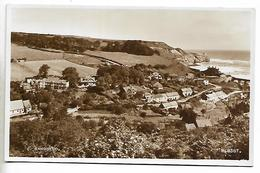 Real Photo Postcard, Sandsend, Topographical View, Coastline, Houses. - Whitby