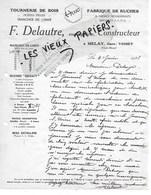 52 - Haute-marne - MELAY - Facture DELAUTRE - Tournerie De Bois, Fabrique De Ruches - 1928 - REF 146B - France