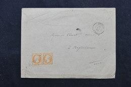 FRANCE - Enveloppe De Livarot Pour Argentan En  1860, Affranchissement Napoléons 40ct X 2 , PC 1740  - L 59271 - 1849-1876: Classic Period