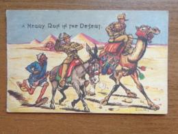 Humorkaart Dieren / U Merry Run In The Desert (ezel En Kameel) --> Onbeschreven - Animaux & Faune
